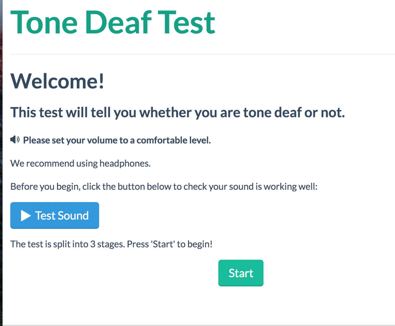 Logo for Tone Deaf Test