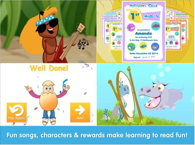 Screenshots of Reading Eggs