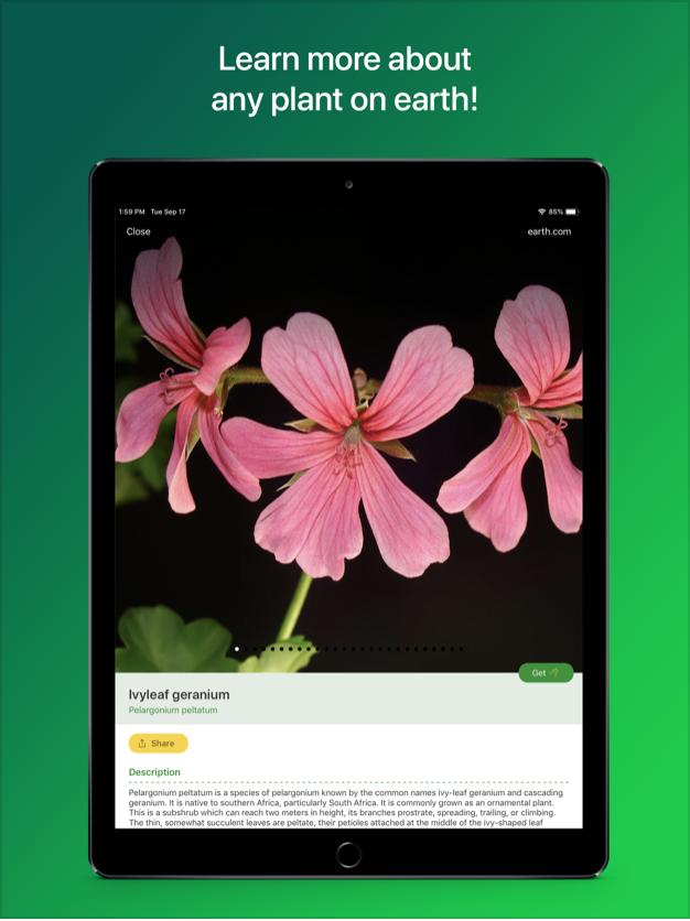 Screenshots of PlantSnap Pro: Identify Plants