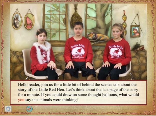 Screenshots of Phonics Little Red Hen Story