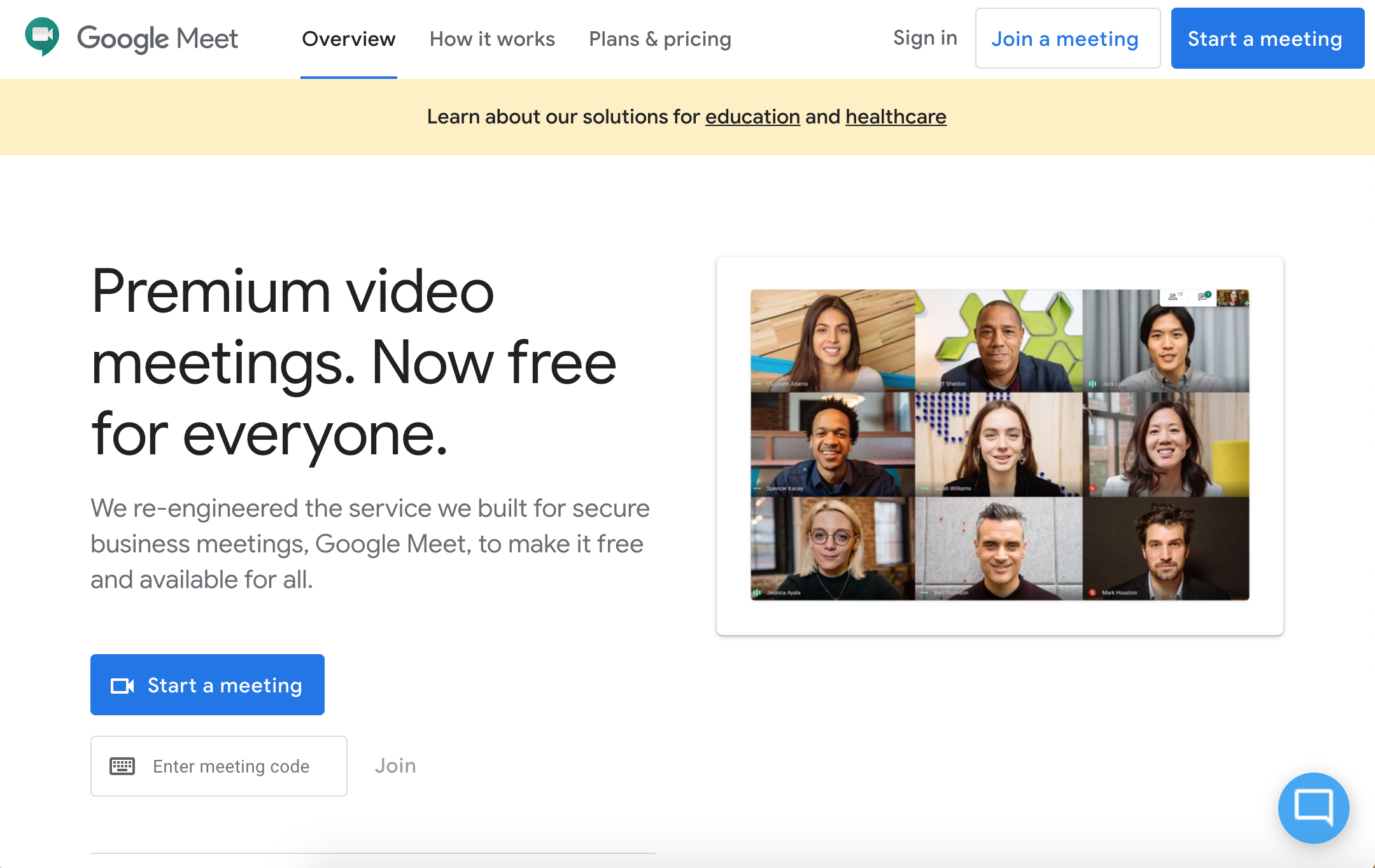 Image of Google Meet
